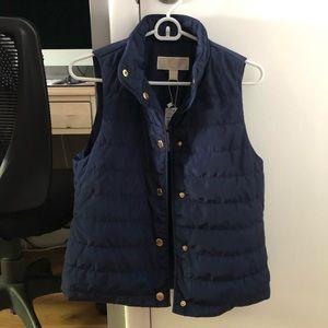 NWT MICHAEL Michael Kors Navy Blue Vest (XS)